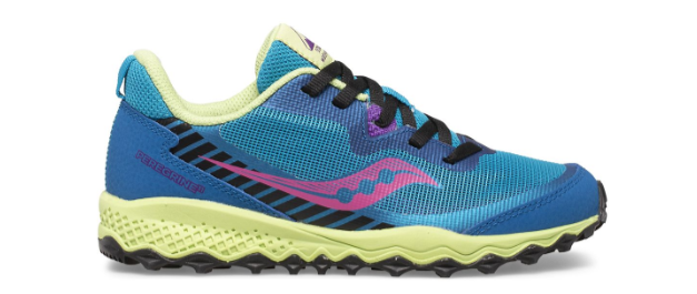 Saucony Peregrine 11 Shield turquoise enfant chaussure trail running