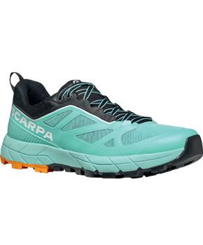 Chaussure Scarpa Rapid Aqua Sunny Orange Femme trail running Course à pieds en Montagne