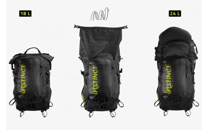 Instinct trail XX 20 litres avec 2 flasques de 600 ml, gilet d'hydratation